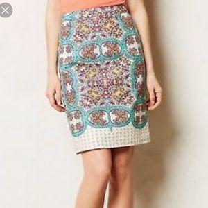 Anthropologie Maeve Mayola Pencil Skirt